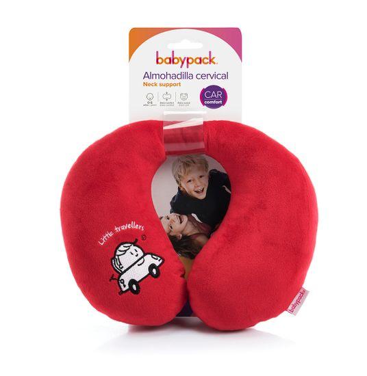 More Babypack Cestovní polštář do auta, červený