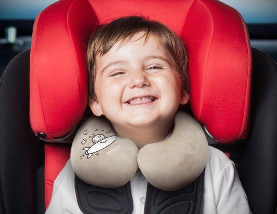 More Babypack Cestovní polštář do auta, béžový