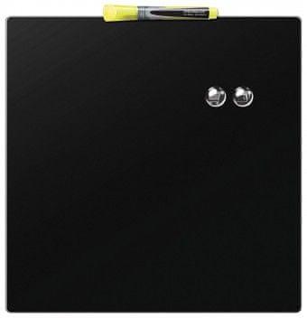 Nobo tabla magnetna quarter 36 x 36 cm, črna