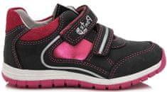 Ponte 20 dekliški usnjeni čevlji, 30, črni/roza
