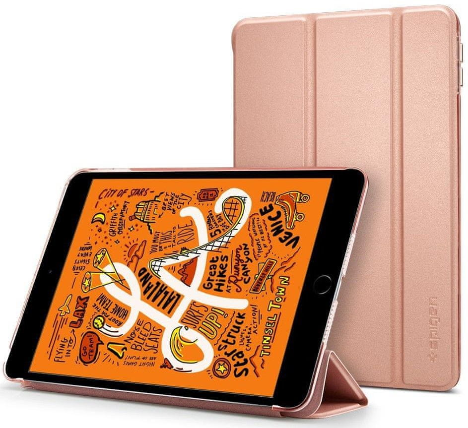 Spigen Ochranné pouzdro Smart Fold Case pro Apple iPad Mini 5 2019, zlatorůžové 051CS26113