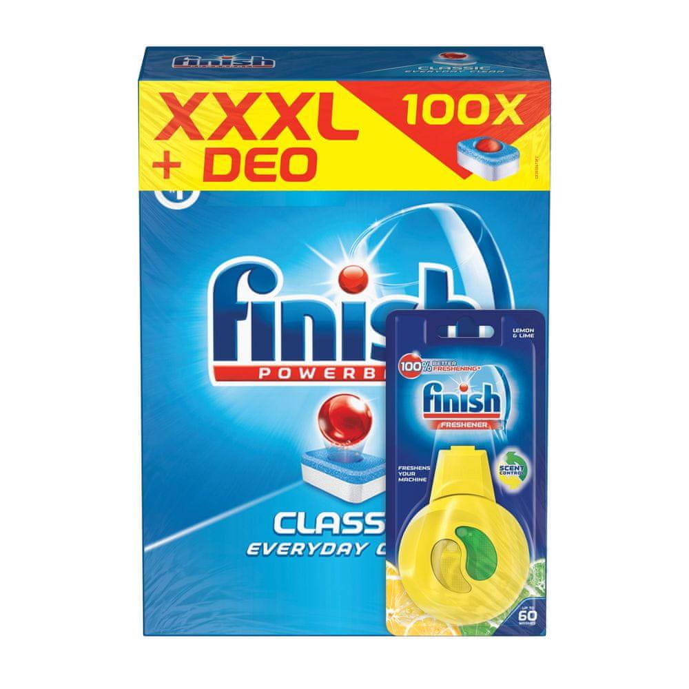 Finish All-in-1 100 ks + Čistič myčky Lemon 250 ml