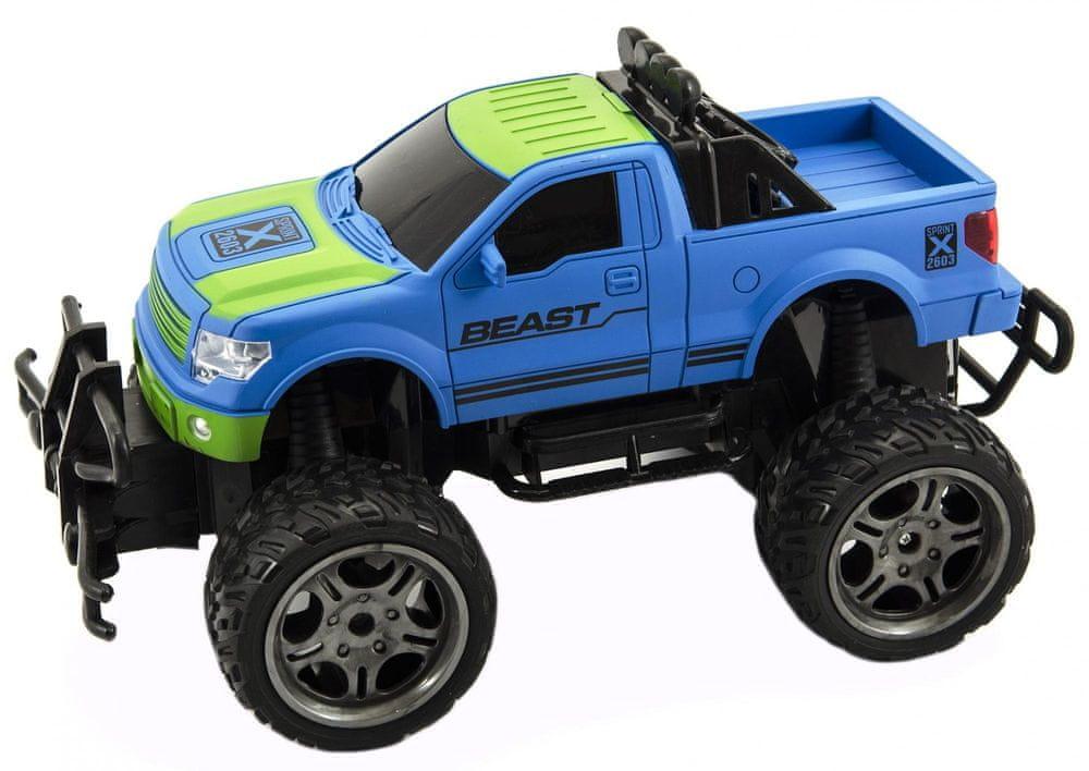 Teddies Auto RC terénní plast 30cm velká kola na dálkové ovládání modré