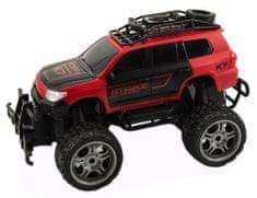 Teddies Auto terenowe RC 30 cm, duże koła, zdalne sterowanie, czerwone