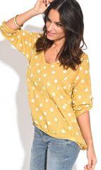100% Lin dámský top 40 žlutá - zánovní