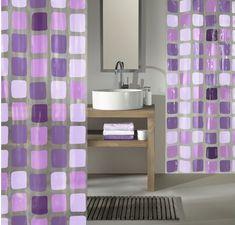 Kleine Wolke Sprchový PEVA záves SONNY 180 x 200 cm fialová