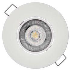EMOS LED spotlámpa Exclusive fehér, 8W meleg fehér