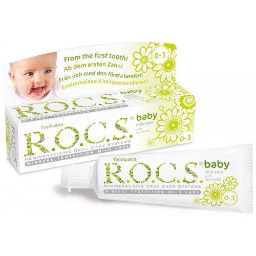 R.O.C.S. zobna pasta Baby Mild Care s kamilico za dojenčke (0-3 let)