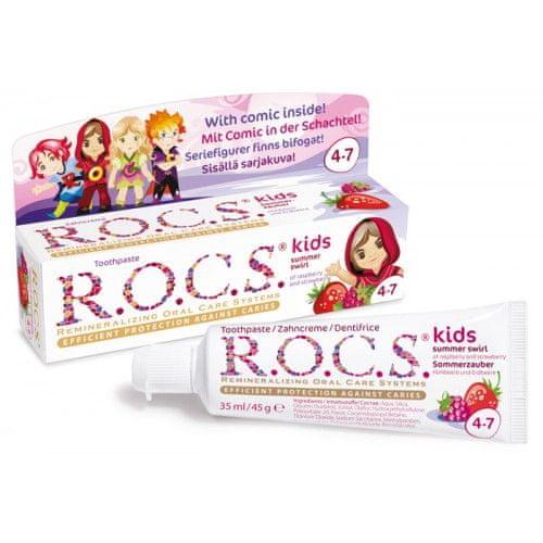 R.O.C.S. Kids Raspberry and Strawberry zobna pasta