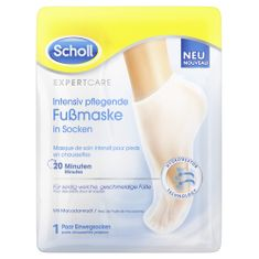 Scholl maska za stopala z makadamovim oljem PediMask Expert Care, 1 par