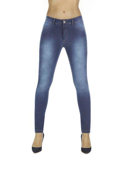 Bas Bleu Női leggingsz Timea light blue + Nőin zokni Gatta Calzino Strech