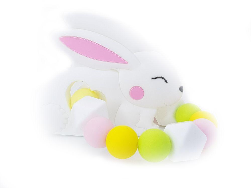 KidPro Silikonové kousátko: Zajíček bílý