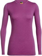 Icebreaker Wmns 200 Oasis Ls Crewe Amore ženska majica z dolgimi rokavi, S, vijolična