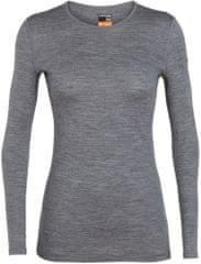 Icebreaker Wmns 200 Oasis Ls Crewe ženska majica z dolgimi rokavi, S, siva