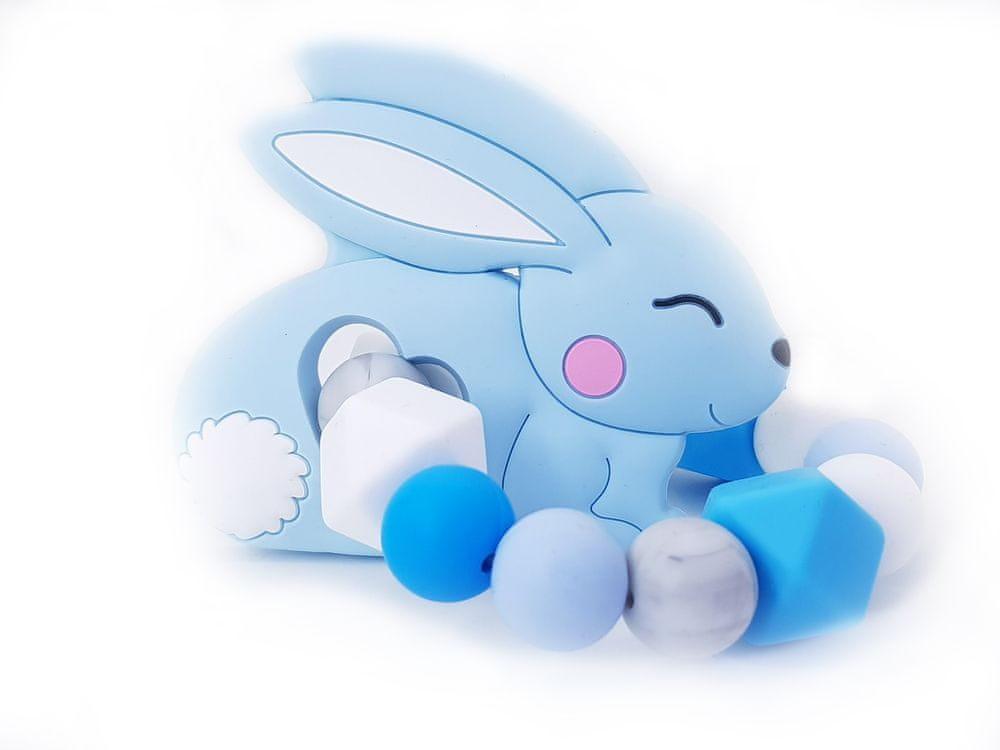 KidPro Silikonové kousátko: Zajíček modrý