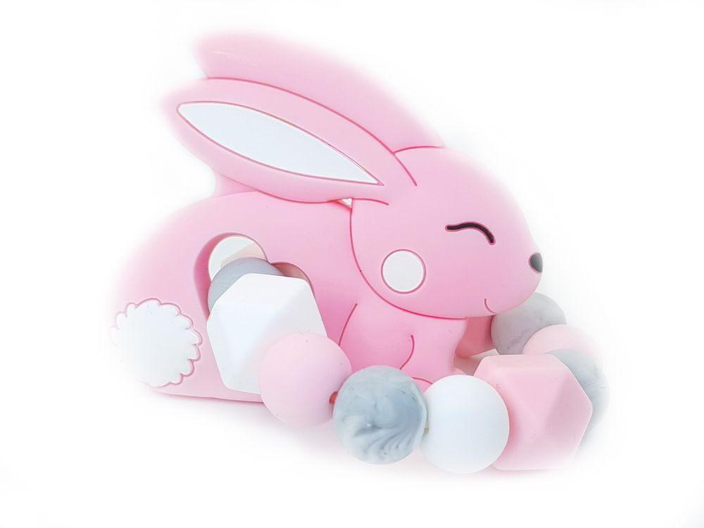 KidPro Silikonové kousátko: Zajíček růžový