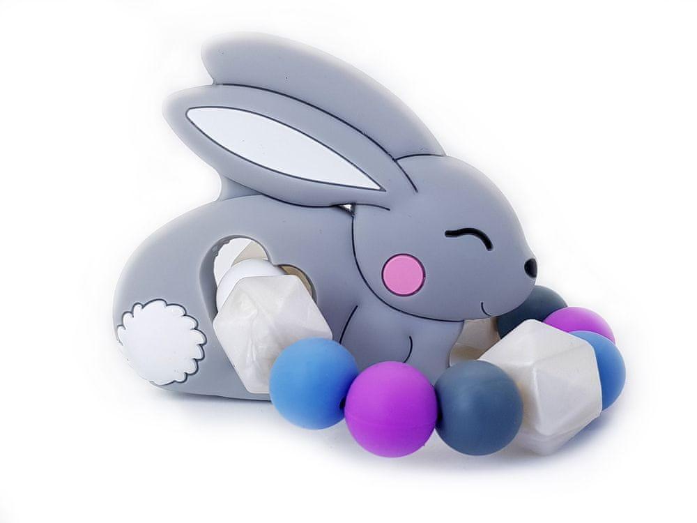 KidPro Silikonové kousátko: Zajíček šedý