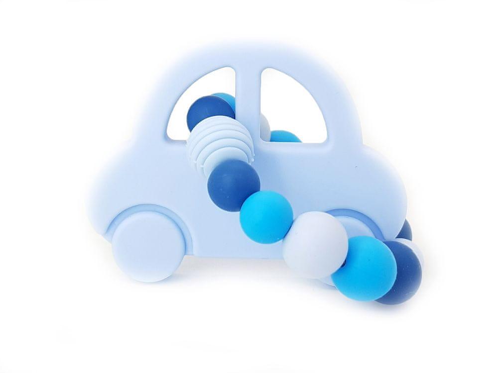 KidPro Silikonové kousátko: Autíčko modré