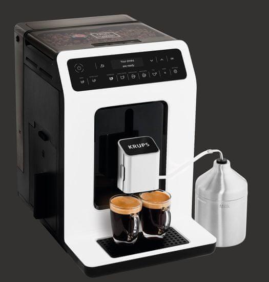 KRUPS Automatický Kávovar EA891110 Evidencia biela