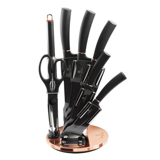 Berlingerhaus Black Rose Collection set nožev s stojalom, 8 kosov