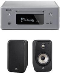 Denon RCD-N10 CEOL, šedý + Polk S20e, černé