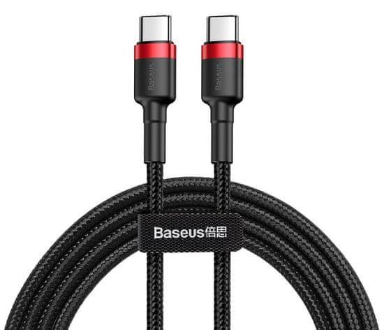 BASEUS Cafule podatkovni kabel tip C QC 3.0, 60 W 20 V, 3 A, 1 m, črno-rdeč