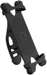 """BASEUS Miracle cyklistický silikónový držiak telefónu 4-6"""" Sumire-BY01, čierny"""