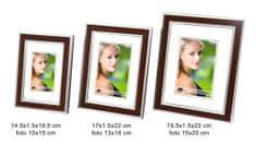 DUE ESSE Set 3 ks fotorámečků dekor světlé dřevo, 10x15/ 13x18/ 15x20 cm