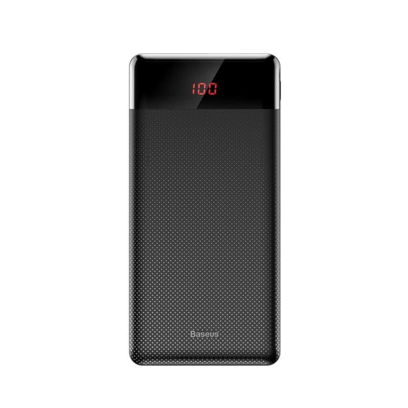 BASEUS Mini Cu Powerbanka s digitálním displejem 10000mAh, černá PPALL-AKU01