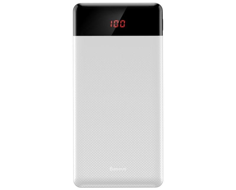 BASEUS Mini Cu Powerbanka s digitálním displejem 10000mAh, bílá PPALL-AKU02