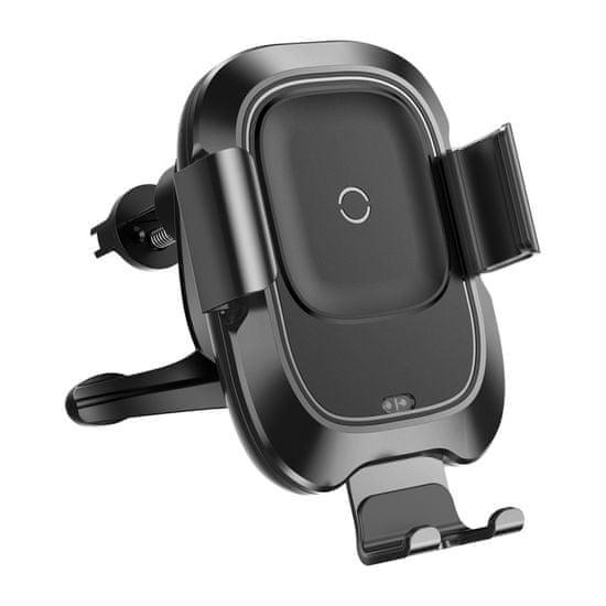 BASEUS Smart 2v1 chytrá bezdrátová Qi nabíječka a držák do auta s infračerveným čidlem WXZN-01, černý