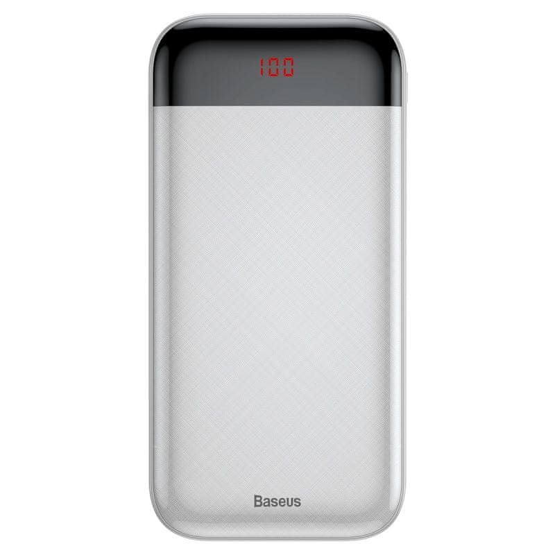 BASEUS Mini Cu Powerbanka s digitálním displejem 20000mAh, bílá PPALL-CKU02