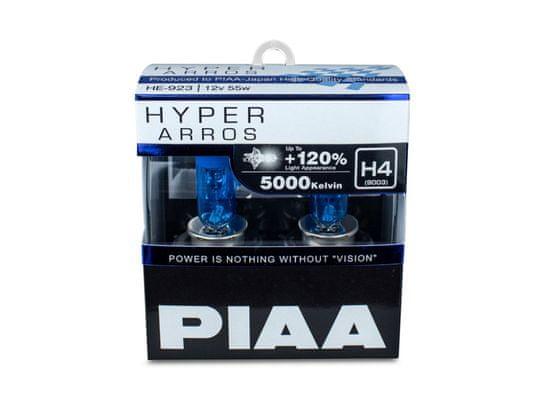 PIAA autožárovky Hyper Arros 5000K H4, 2 kusy