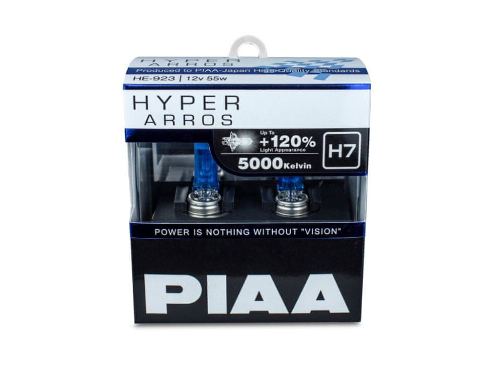 PIAA autožárovky Hyper Arros 5000K H7, 2 kusy