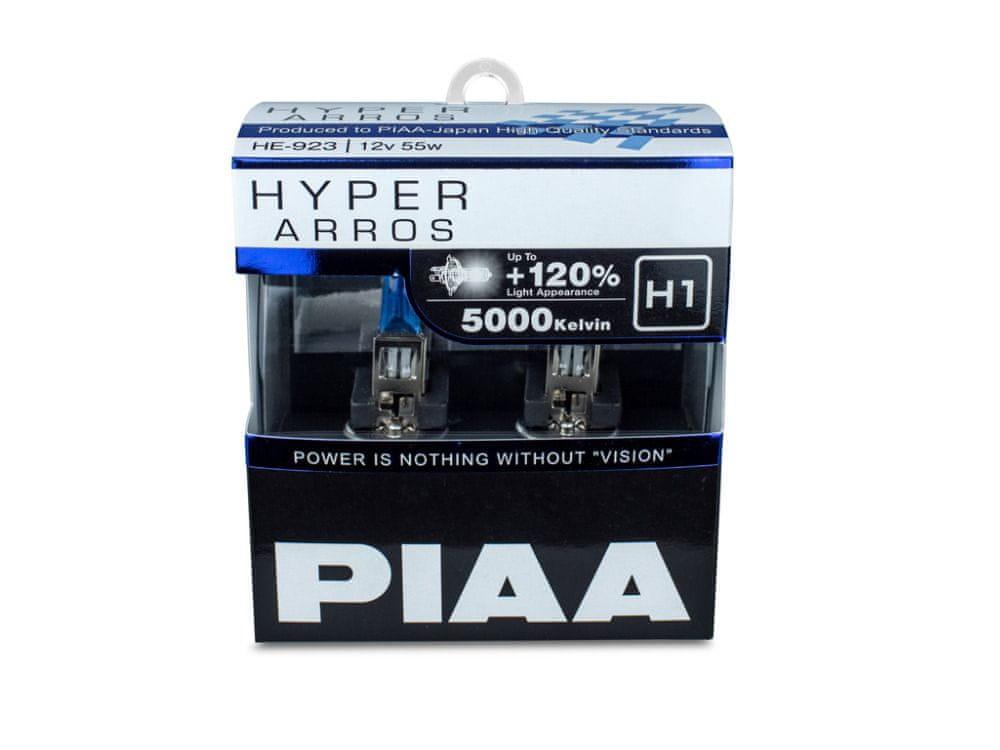PIAA autožárovky Hyper Arros 5000K H1, 2 kusy