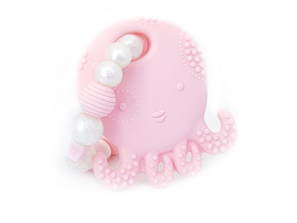 KidPro Silikonové kousátko: Chobotnička růžová