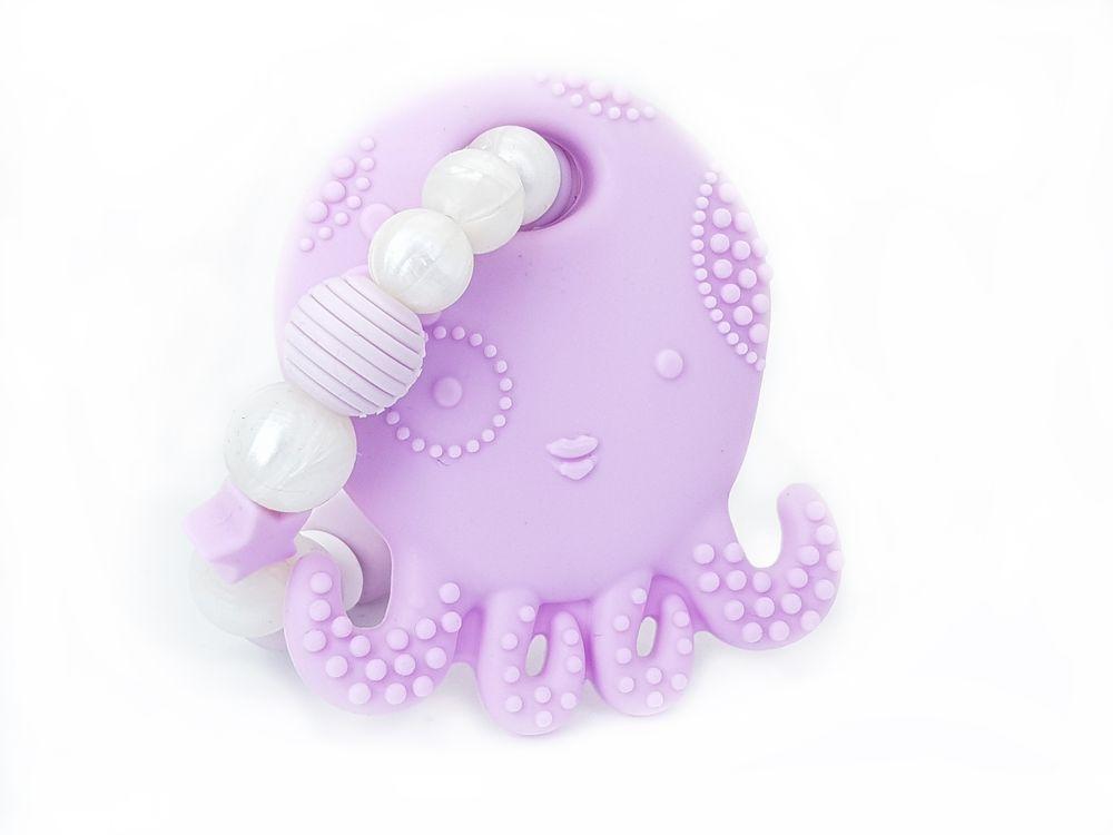KidPro Silikonové kousátko: Chobotnička fialová