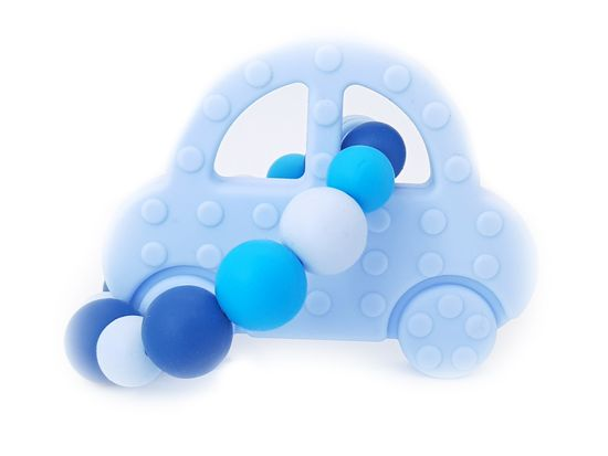KidPro Silikónové hryzátko: Autíčko modré