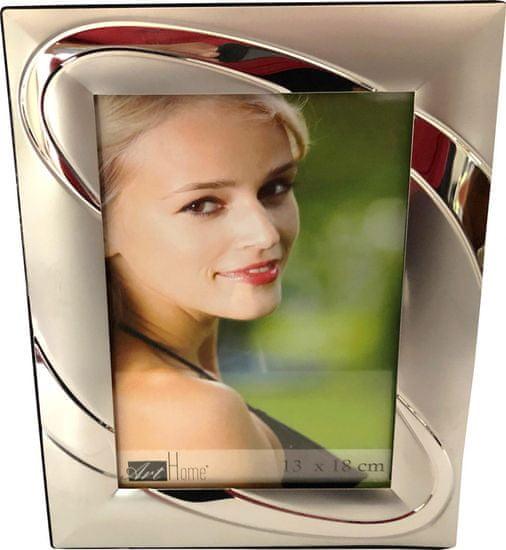 DUE ESSE Fotorámeček na foto 13 x 18 cm, stříbrný