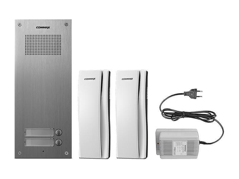 COMMAX DR-2UM/DP-SS/RF-1A, sada domácích telefonů pro 2 uživatele, systém 4+n, vč. zdroje,