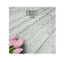 Laica elektronska osebna tehtnica PS1065, bela, roza