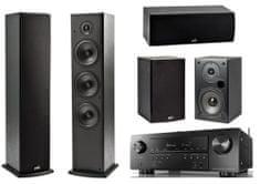 Denon AVR-S750H + Polk T15 + T30 + T50, černé