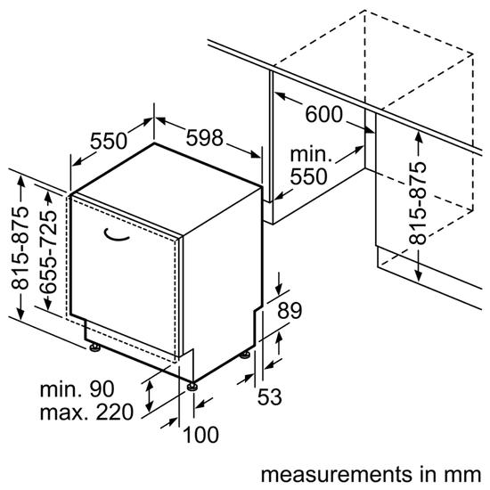 Bosch vestavná myčka SMV25AX00E