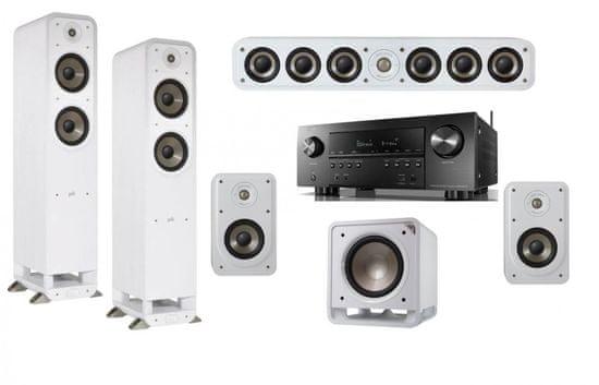 Denon AVR-S950H + Polk S15e + S35Ce + S55e + HTS12, bílé