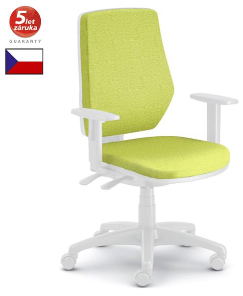 emagra kancelářská židle LEX 229/BW bílý plast - zelená