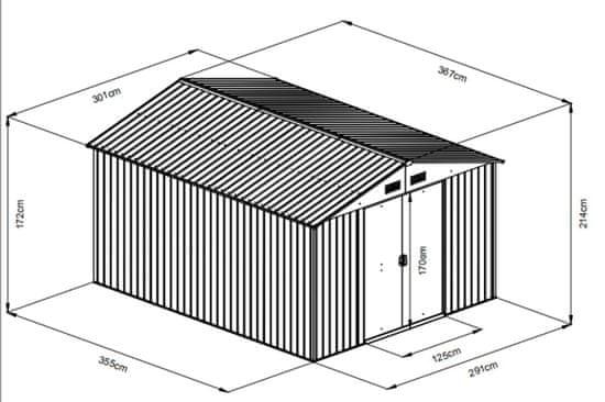 MAXTORE zahradní domek MAXTORE 1012 ZELENÝ