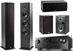 Denon AVR-S650H + Polk T15 + T30 + T50, černé