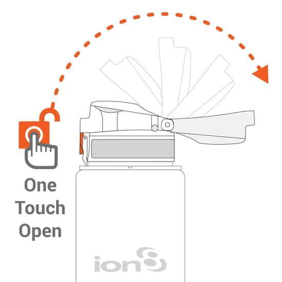 ion8 Láhev na vodu One Touch 750 ml světle růžová