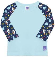 Bambinomio chlapčenské plavecké tričko UV 50+ S (0-6 mesiacov) modrá