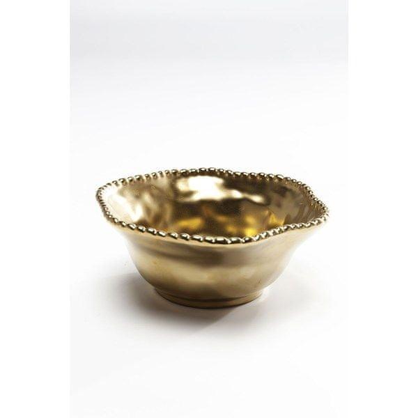 KARE Mísa Bell 16 cm - zlatá